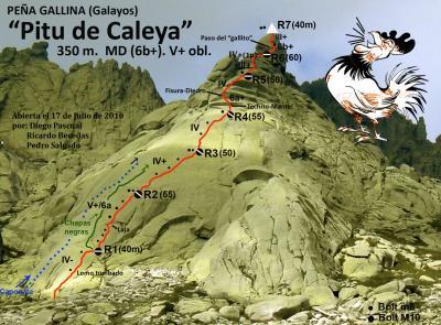 Nueva vía en Galayos: Pitu de Caleya 350m MD (6b+)