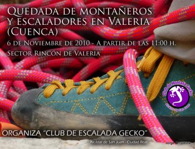 Quedada de montañeros, escaladores y amantes de la naturaleza en Valeria (Cuenca)