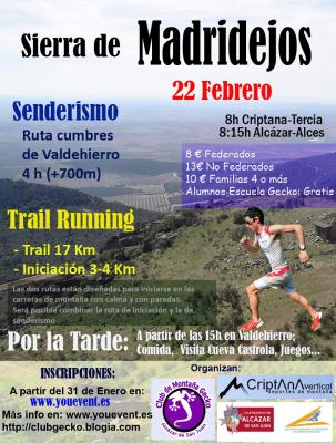 SALIDA - RUTA DE SENDERISMO Y TRAIL RUNNING